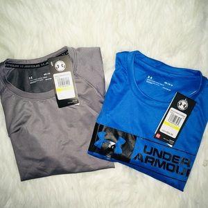 Under Armour Bundle (2) Short Sleeve Shirts sz Med